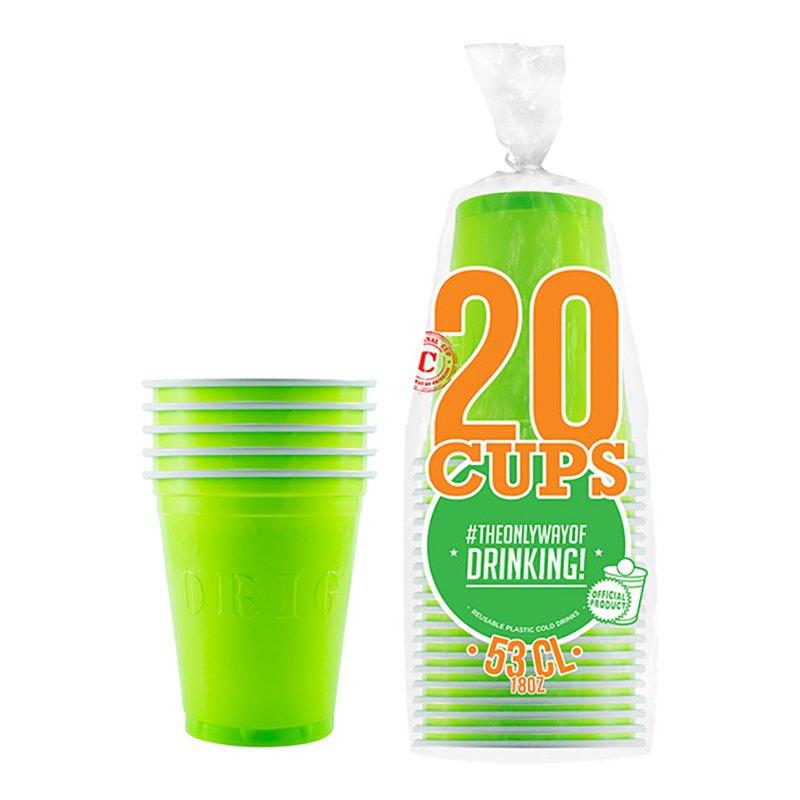 Partycups Neongrön - 20-pack
