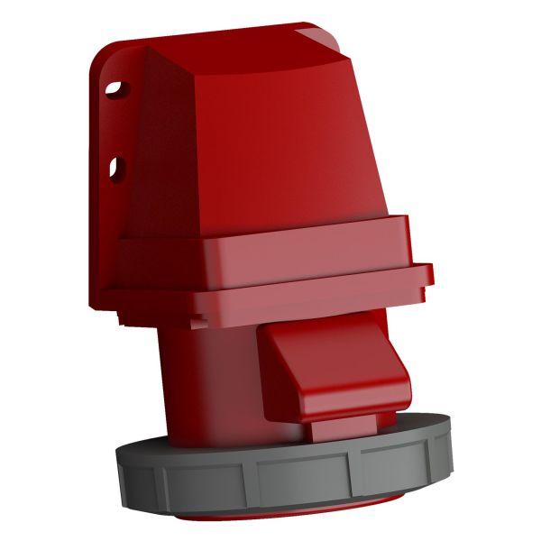 ABB 2CMA102398R1000 Vegguttak hurtigtilkoblet, vibrasjonsbestandig Rød, 32 A, 5-polet, IP67