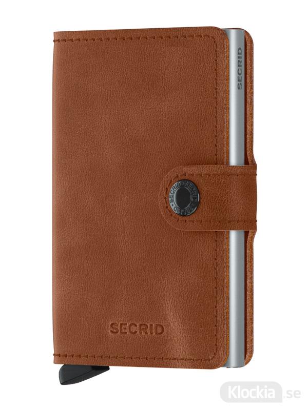 Plånbok SECRID Miniwallet Vintage Cognac-Silver