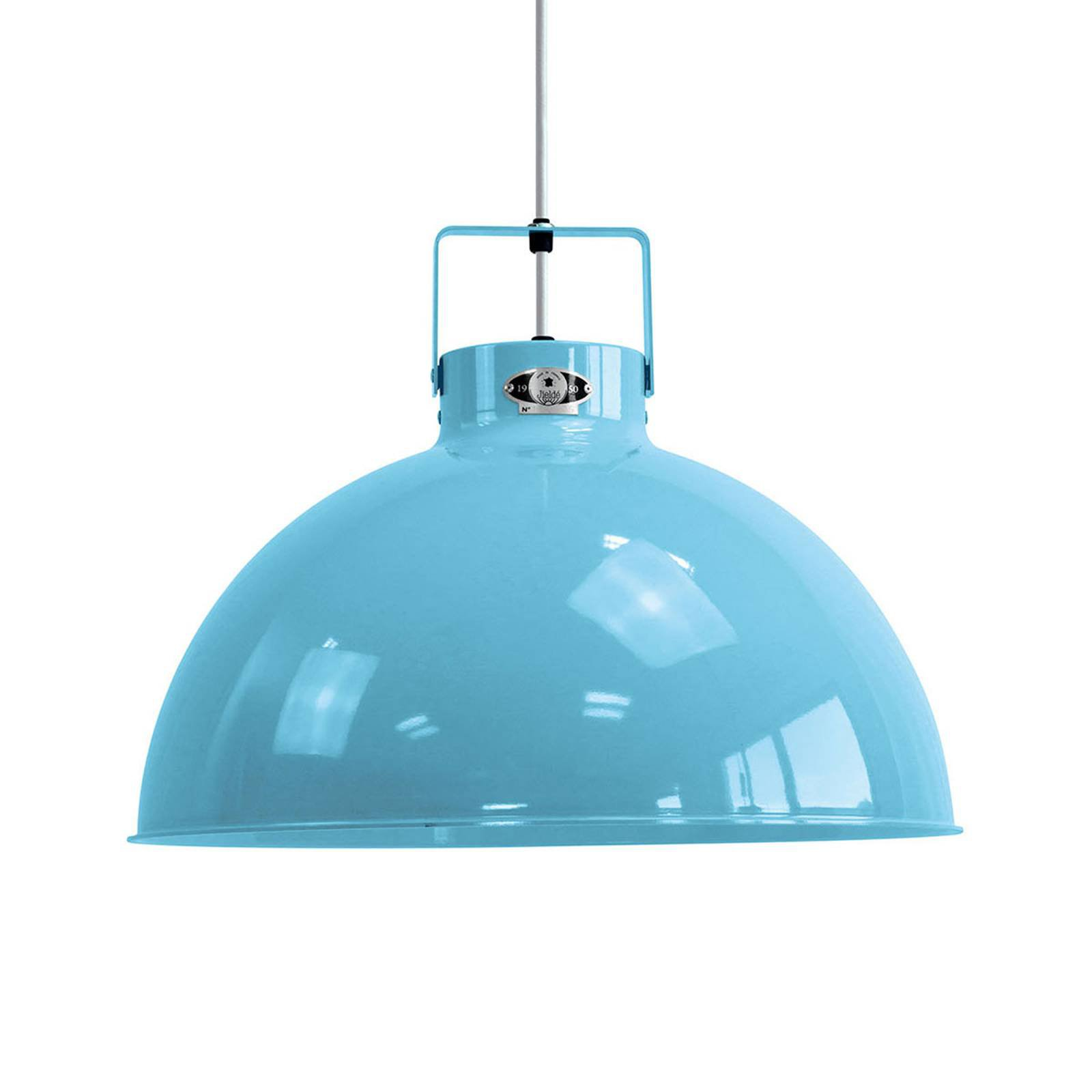 Jieldé Dante D450 hengelampe, lyseblå, Ø 45 cm