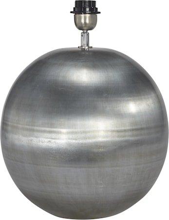 Globe Lampefot Blekt Sølv 30cm