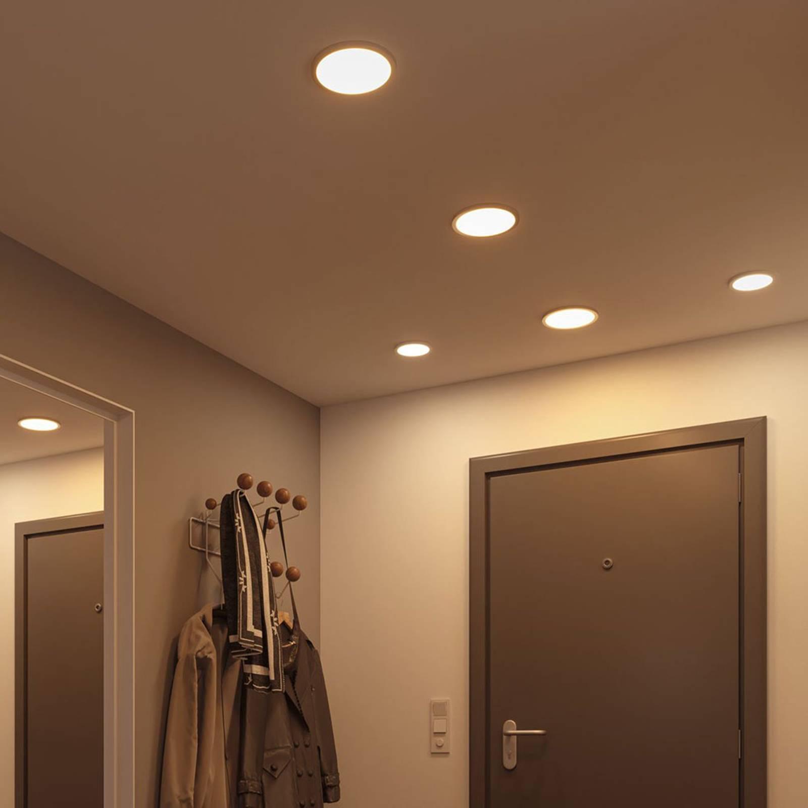 Paulmann-LED-paneeli Areo 4000 K, kromi, 17,5cm