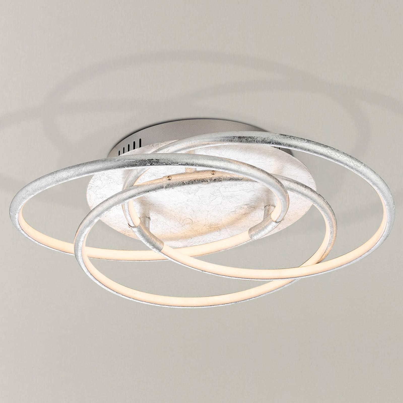 Sølvfarget LED-taklampe Barna