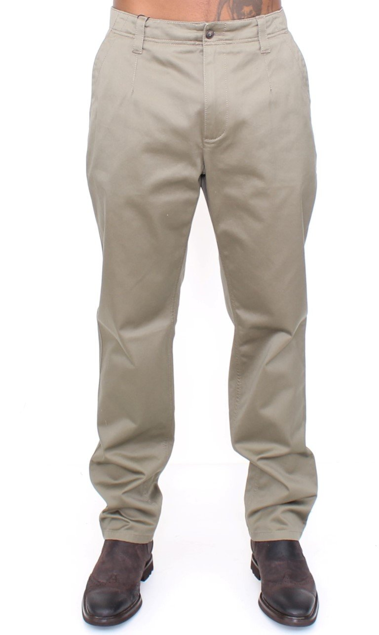 Dolce & Gabbana Men's Cotton Slim Fit Trouser Green HAN10237 - IT54 | XXL