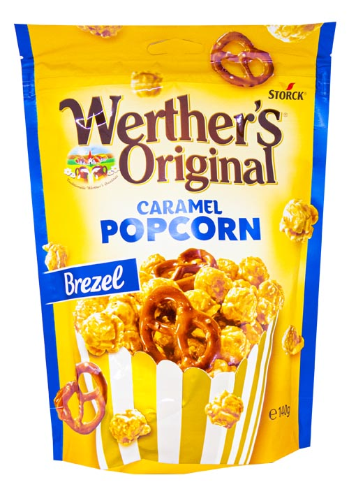 Caramel Popcorn Werthers Brezel 140g