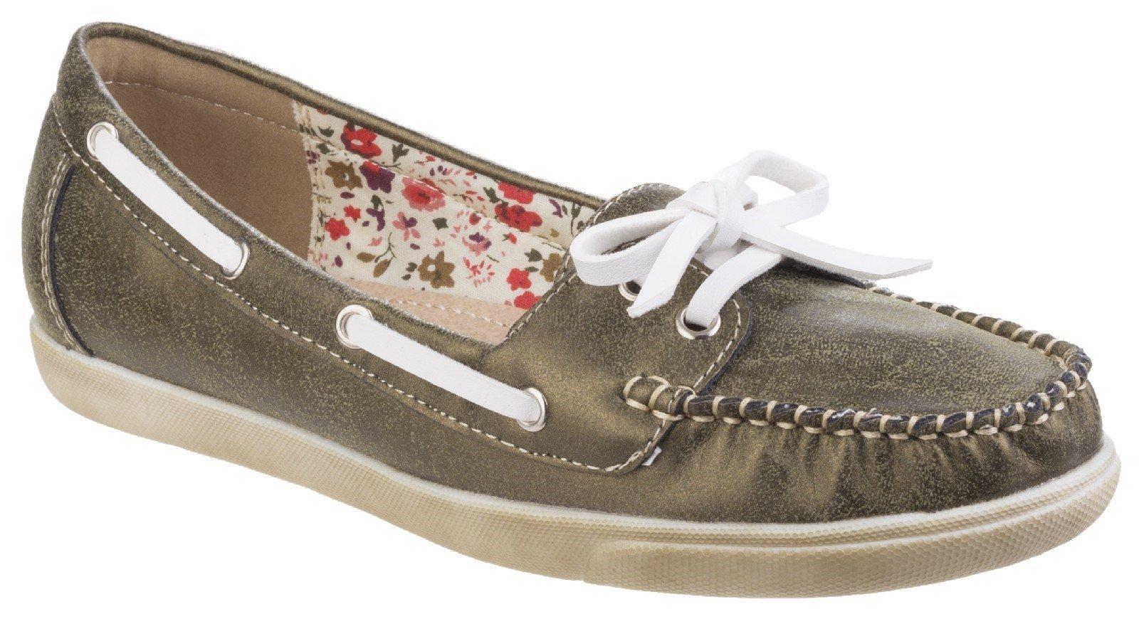 Fleet & Foster Women's Melbeck Ladies Boat Shoe Grey 24944-41270 - Green 4