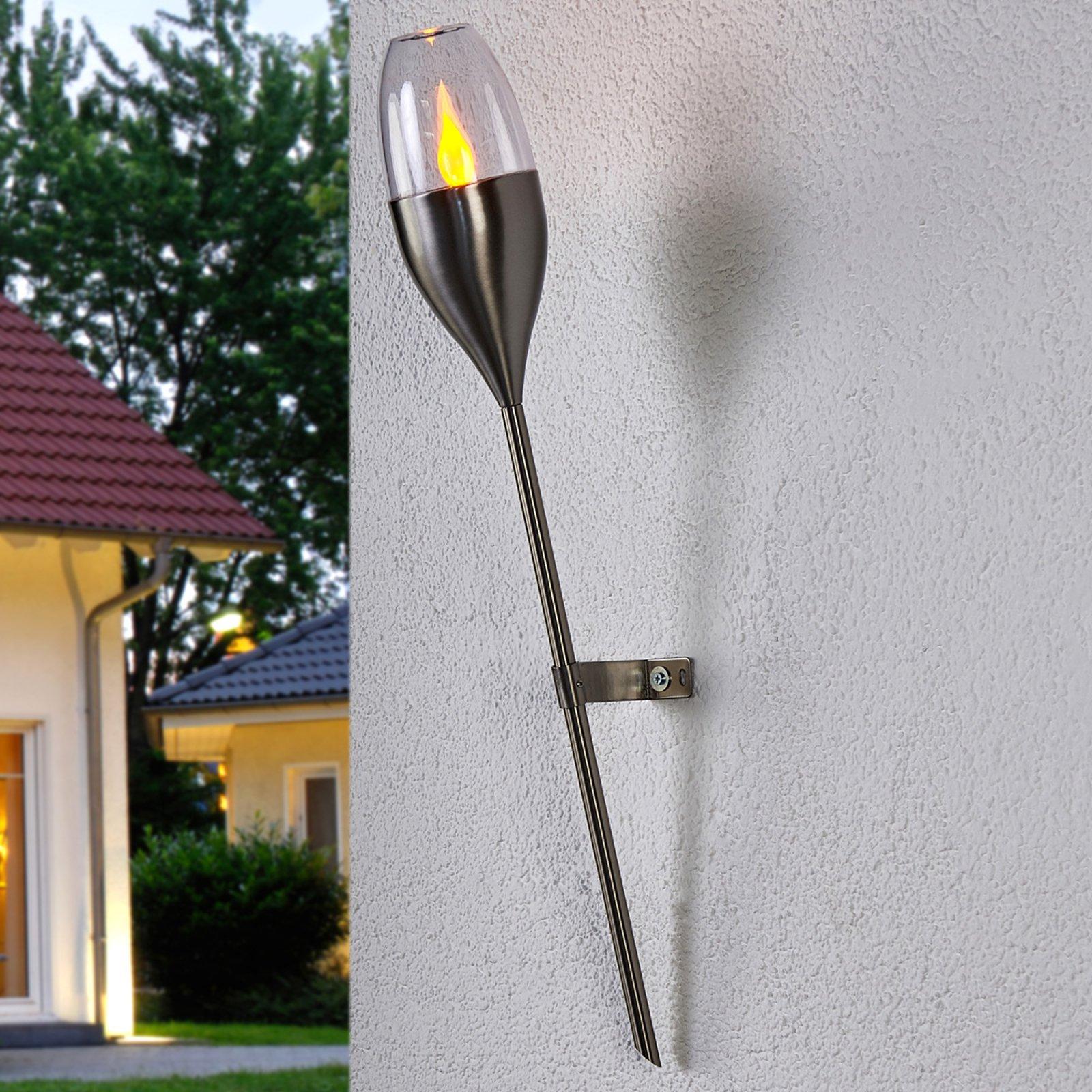 Jari solcellevegglampe med flimrende LED-pære