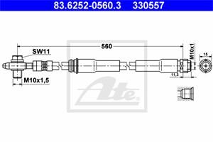 Jarruletku, Etuakseli, AUDI A3, TT, TT Roadster, 8N0 611 707 A