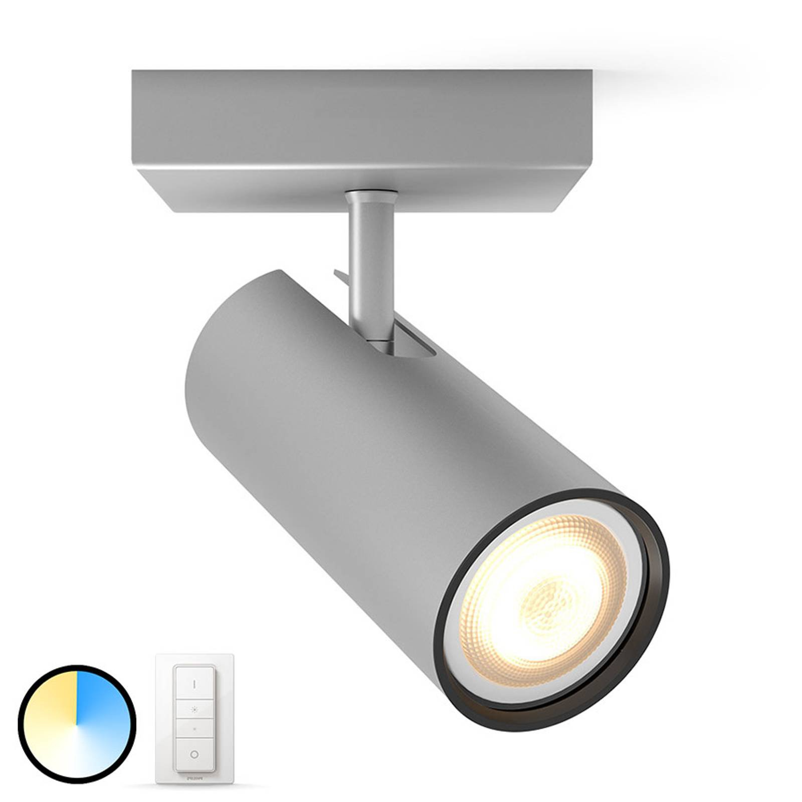Philips Hue Buratto LED-spot alu 1lk dimmebryter