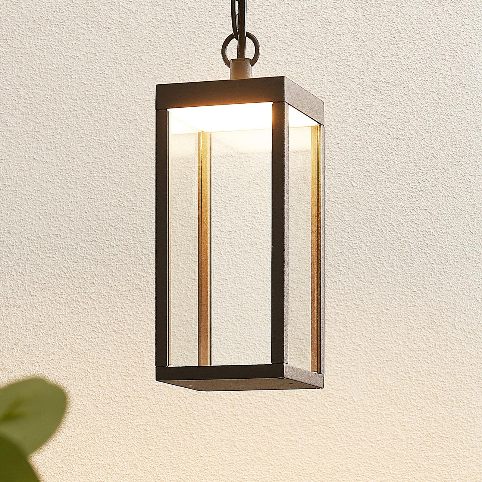 LED-ulkoseinävalaisin Cube lasivarjostimella 26 cm