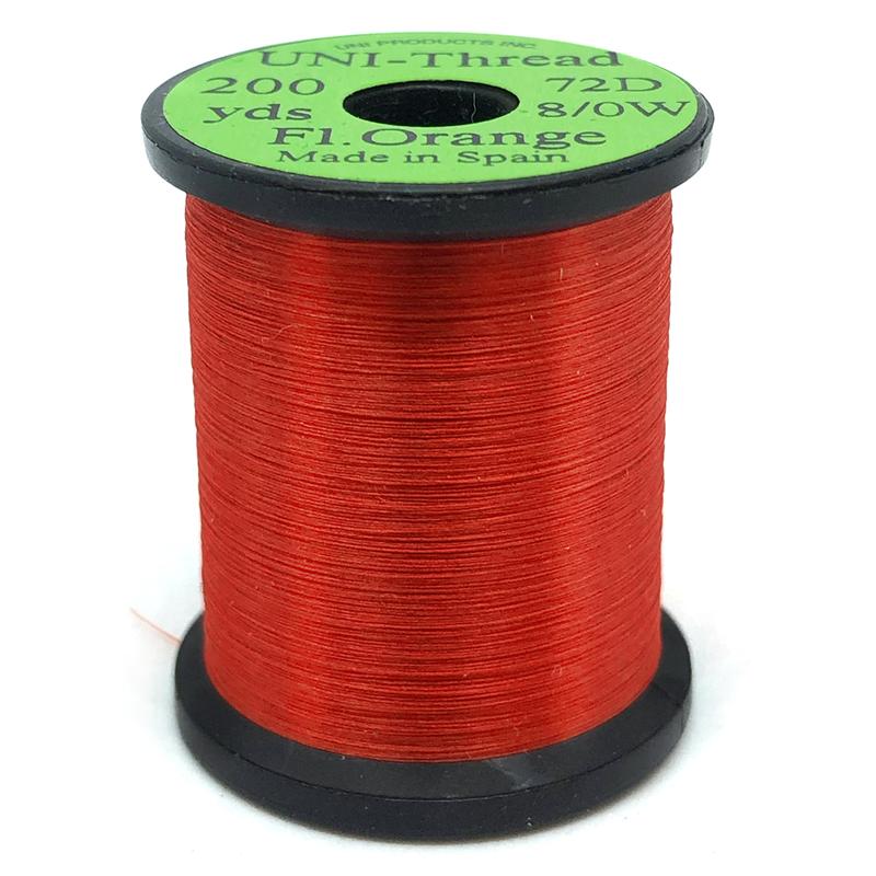 UNI bindetråd 8/0 - Fl. Orange 200y