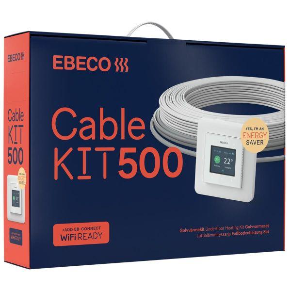 Ebeco Cable Kit 500 Gulvvarmesett 107 m, 1180W