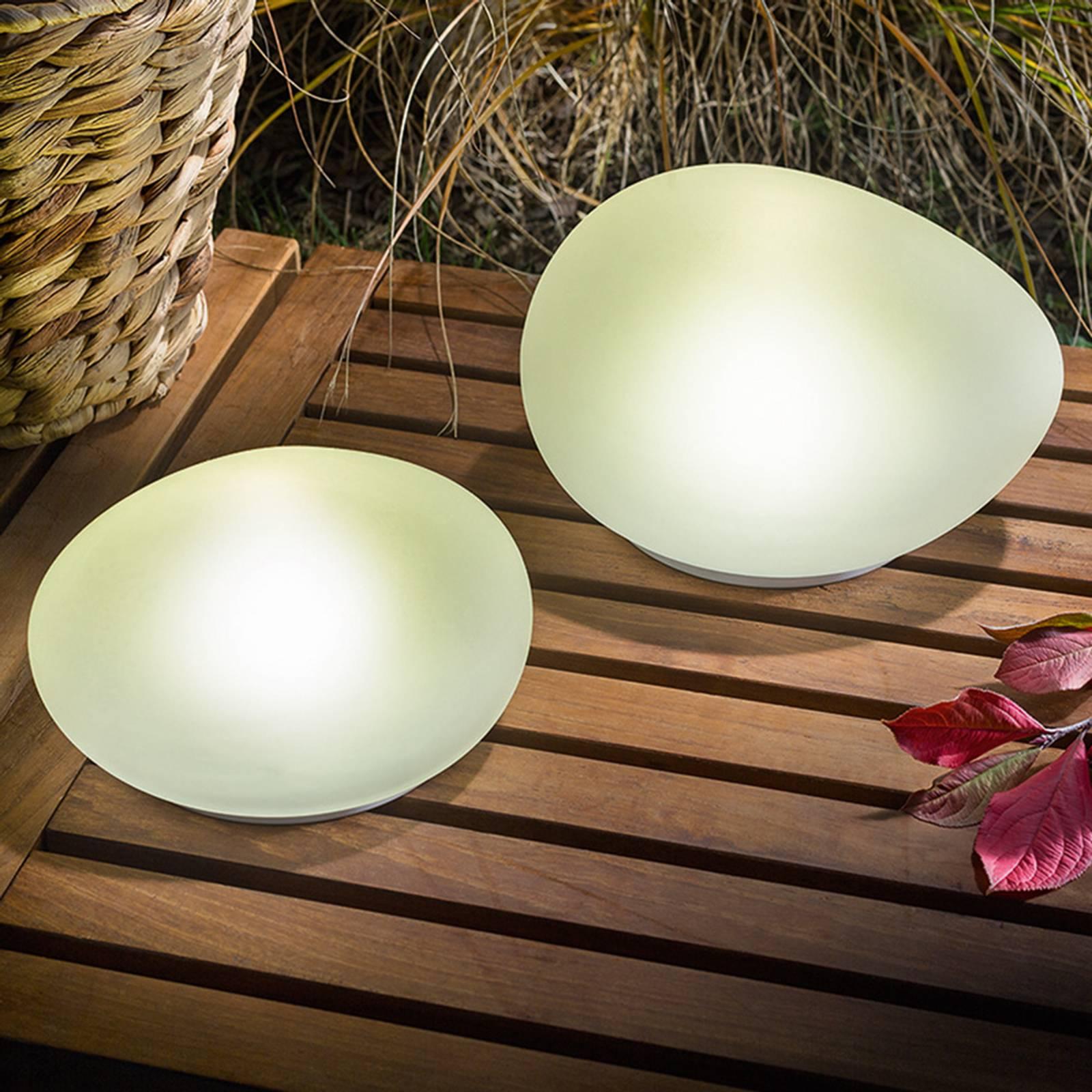 Aurinkokäyttöinen LED-koristekivi Flintstone 2 kpl