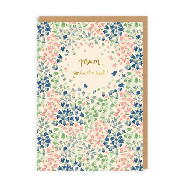 Mum, You're The Best! Bluebells Greeting Card