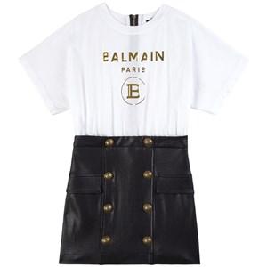 Balmain Logo Klänning Vit 6 år
