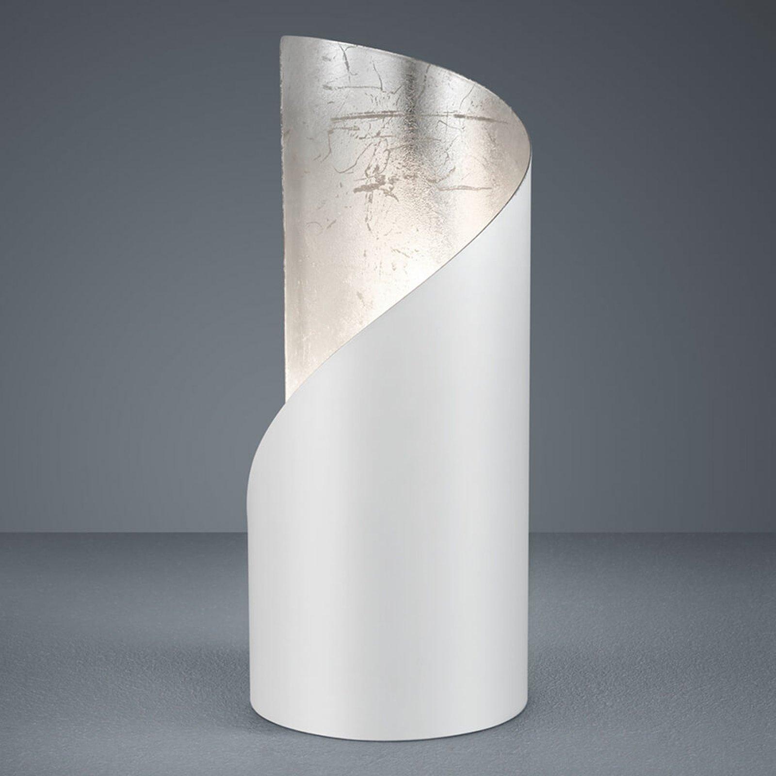 Bordlampe Frank – hvit og sølv