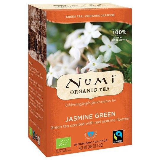 Numi Organic Tea Jasmine Green, 18 påsar