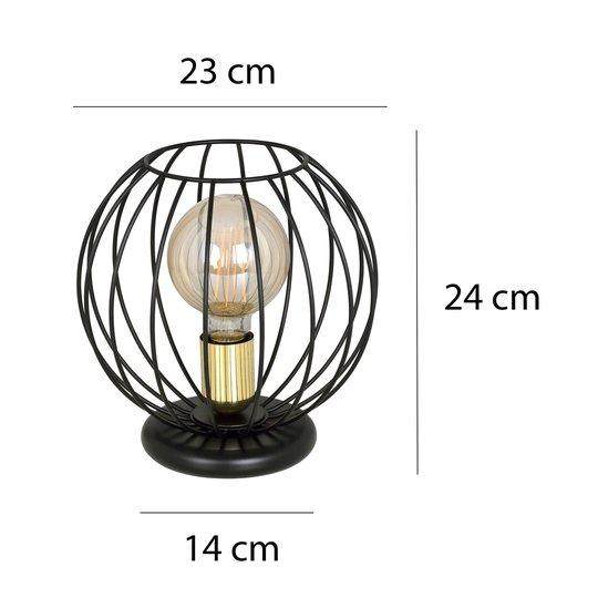 Bordlampe Albio LN1 med burskjerm, svart