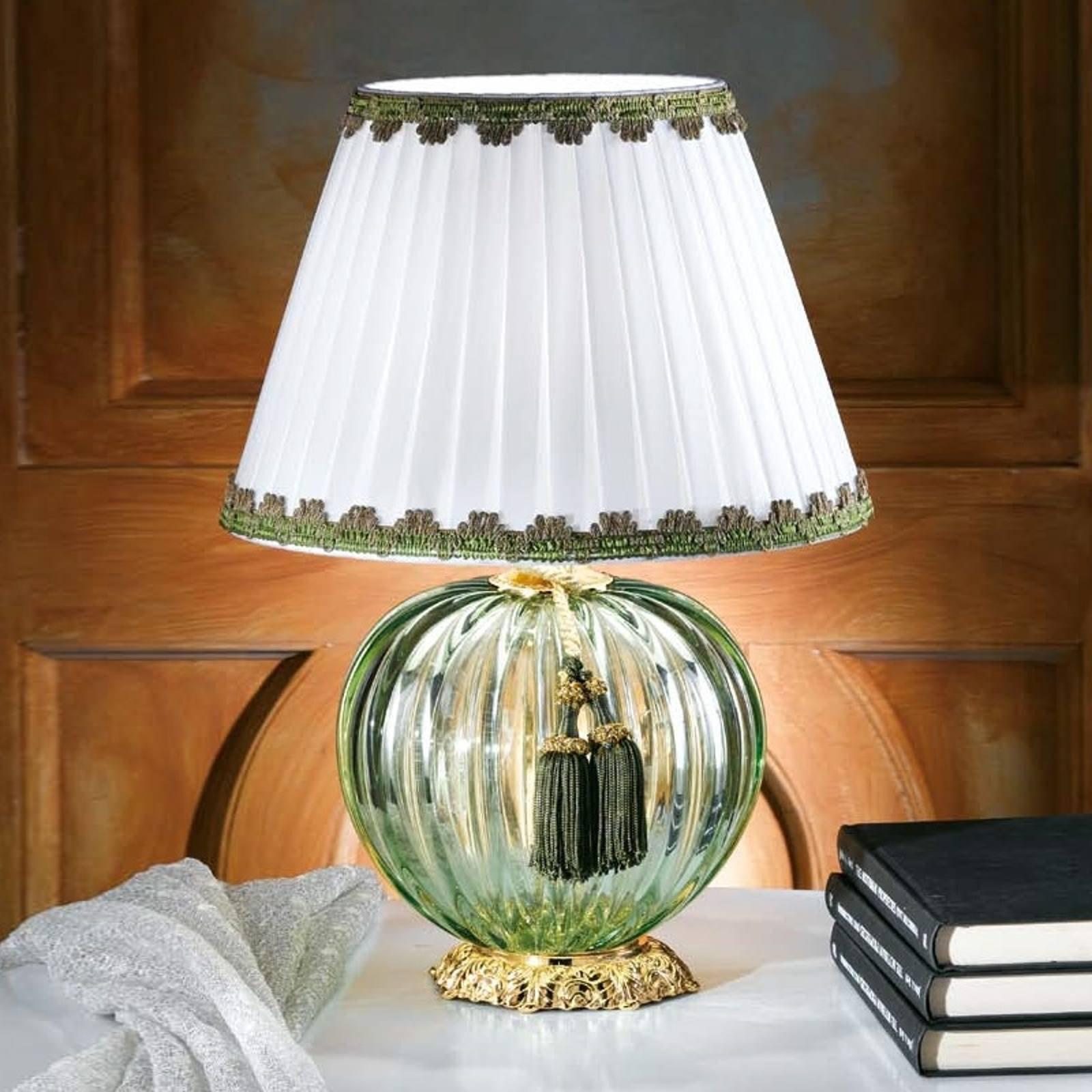 Vakker bordlampe Maureen med Muranoglass