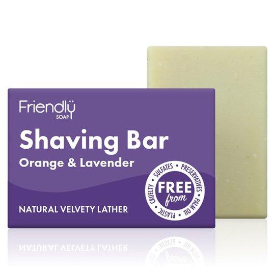 Friendly Soap Shaving Bar Orange & Lavender, 95 g
