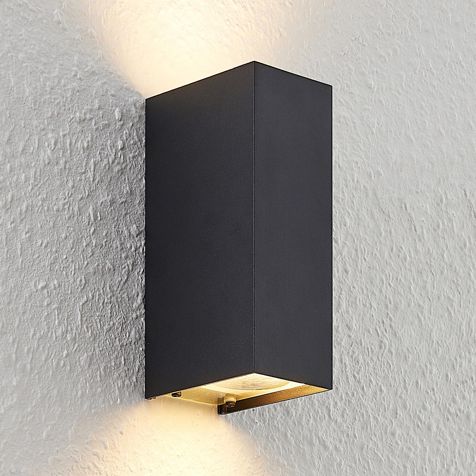 Arcchio Maruba -seinävalaisin, 2-lamppuinen, musta