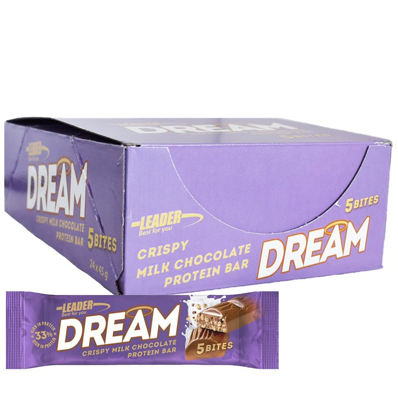 "Hel Låda Proteinbar ""Milk Chocolate"" 24 x 45g - 50% rabatt"