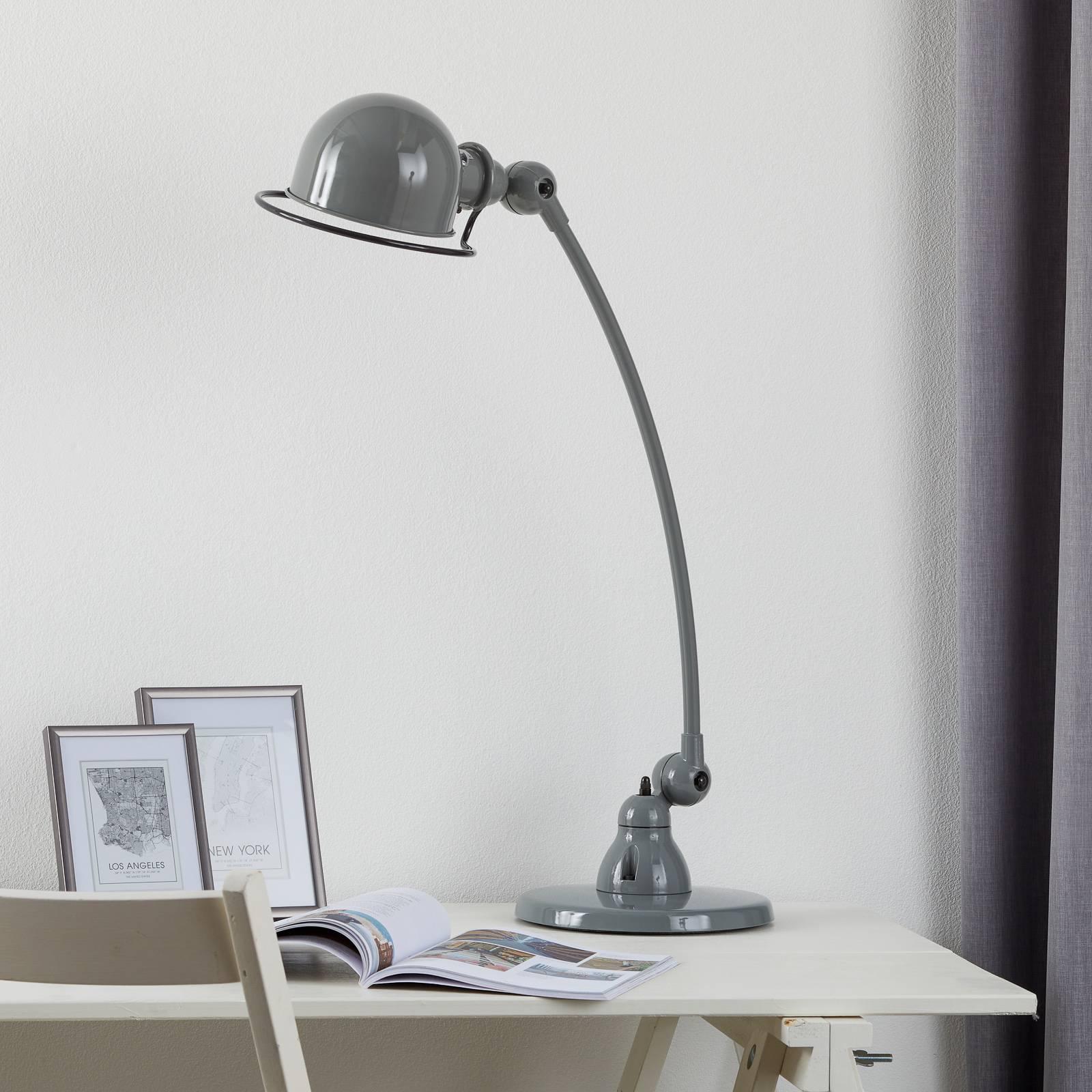 Jieldé Loft C6000 -pöytävalaisin kaareva, harmaa