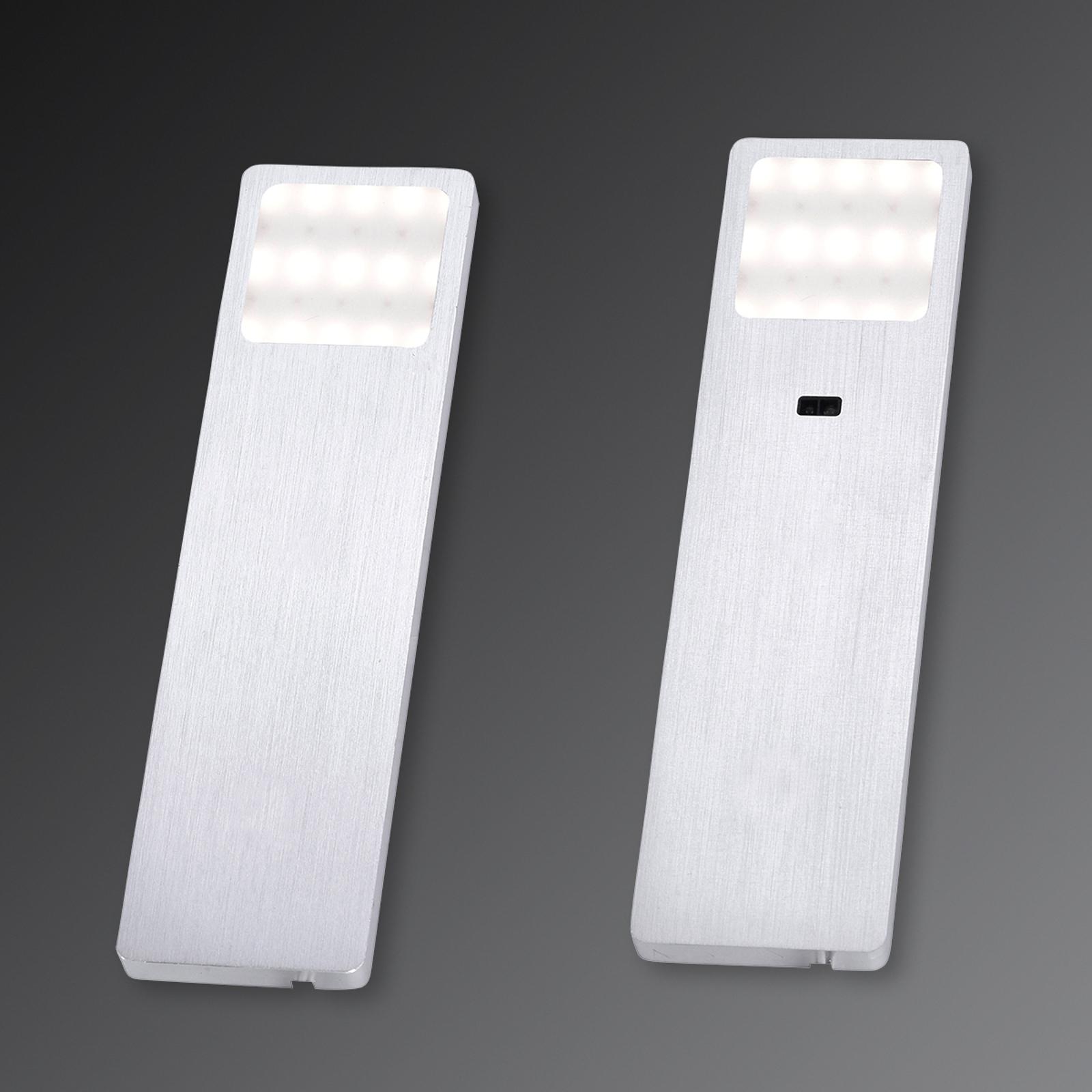 Helena LED-tunnistin-kaapinalusvalaisin 5 cm 2 kpl