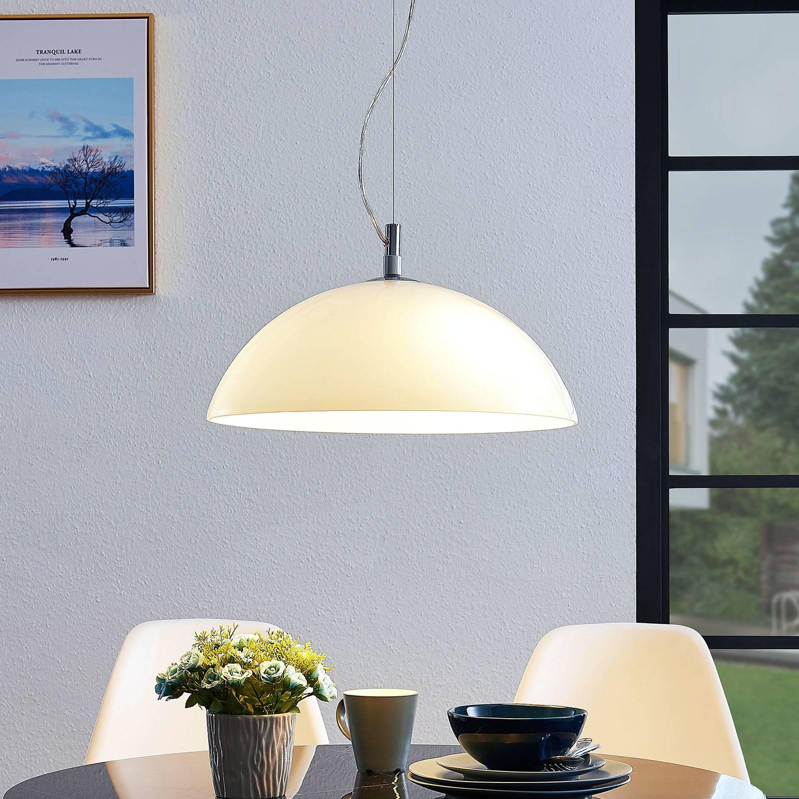 Lucande Lourenco -riippuvalaisin, opaalilasi 45 cm