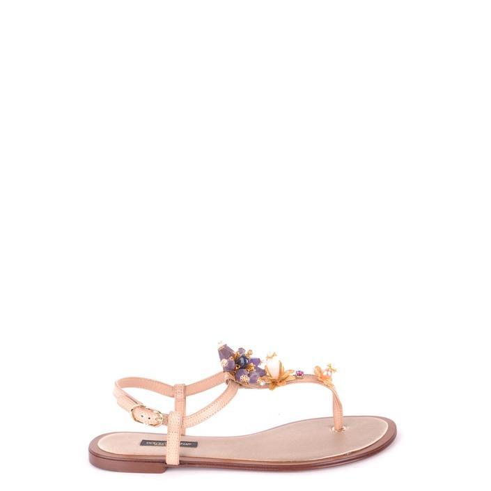 Dolce & Gabbana Women's Flip Flops Multicolor 164340 - multicolor 36