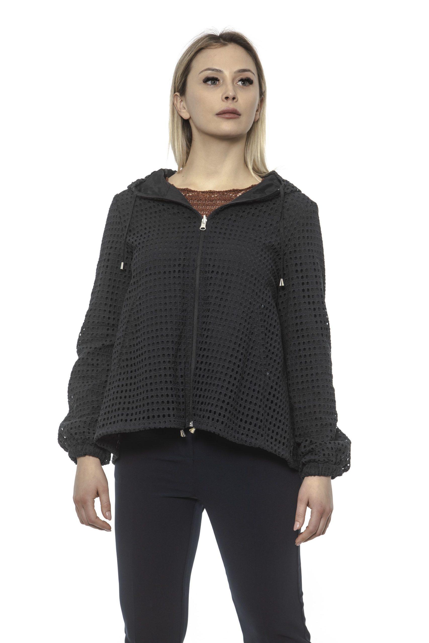 Alpha Studio Women's Nero Coat Black AL1374836 - IT40   XS