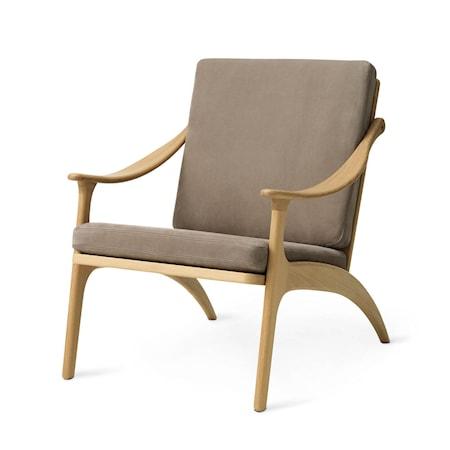 Lean Back Lounge Chair Nabuk Seppia Ek