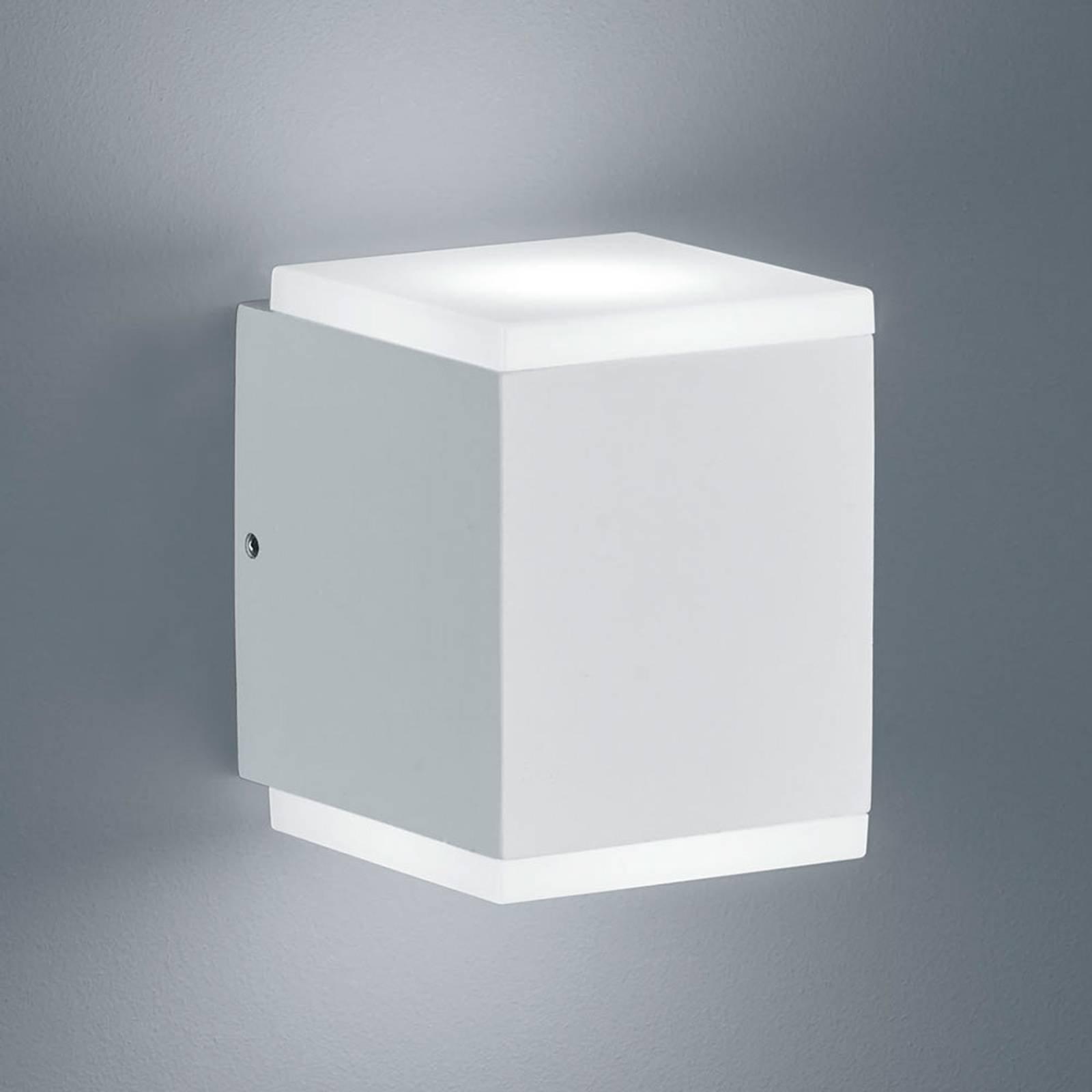 Helestra Kibo – utendørs LED-vegglampe, matt hvit