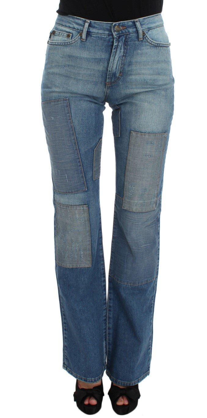 Cavalli Women's Wash Cotton Slim Fit Bootcut Jeans Blue SIG32410 - W30
