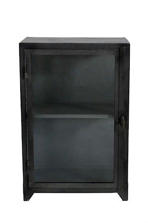 Iron glass cabinet vitrineskap – 1 dør, liten