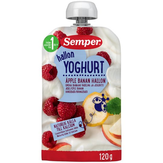 Yoghurt Äpple, Banan & Hallon - 20% rabatt