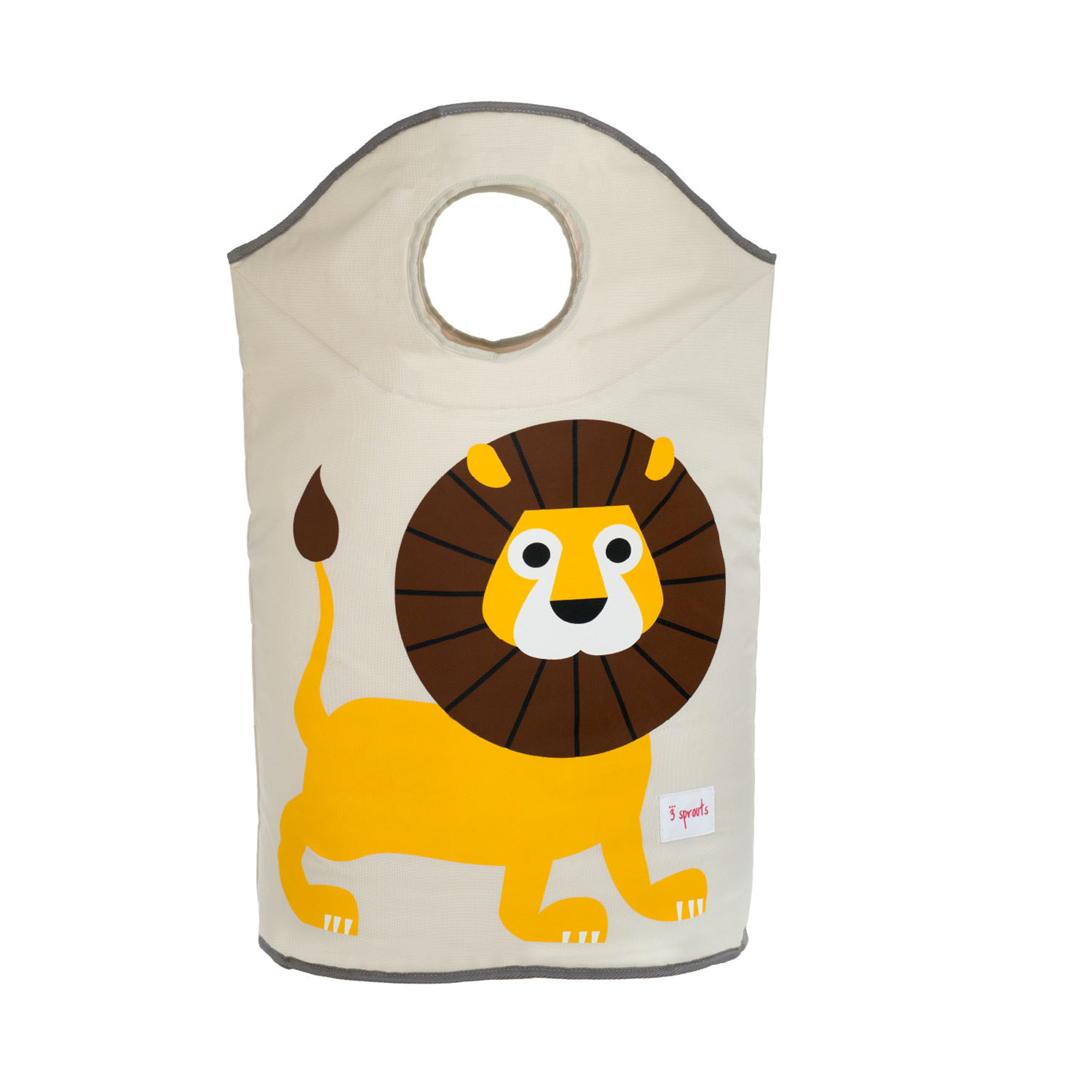 3 Sprouts - Laundry Hamper - Yellow Lion