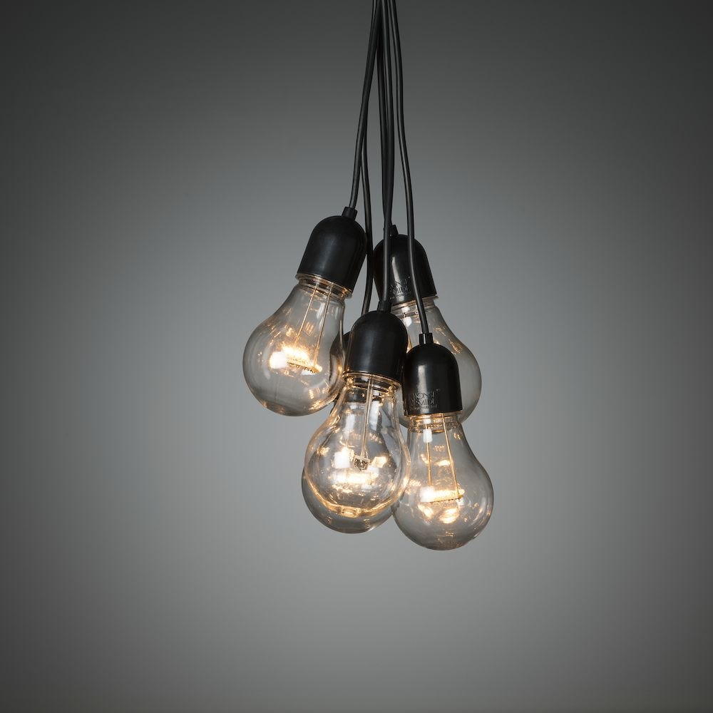 Konstsmide Lysslynge Istapp 20 Klare Lamper 160 Amber LED 24V / IP44