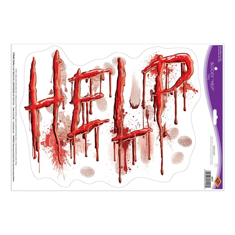 Klistermärke Droppande Blod