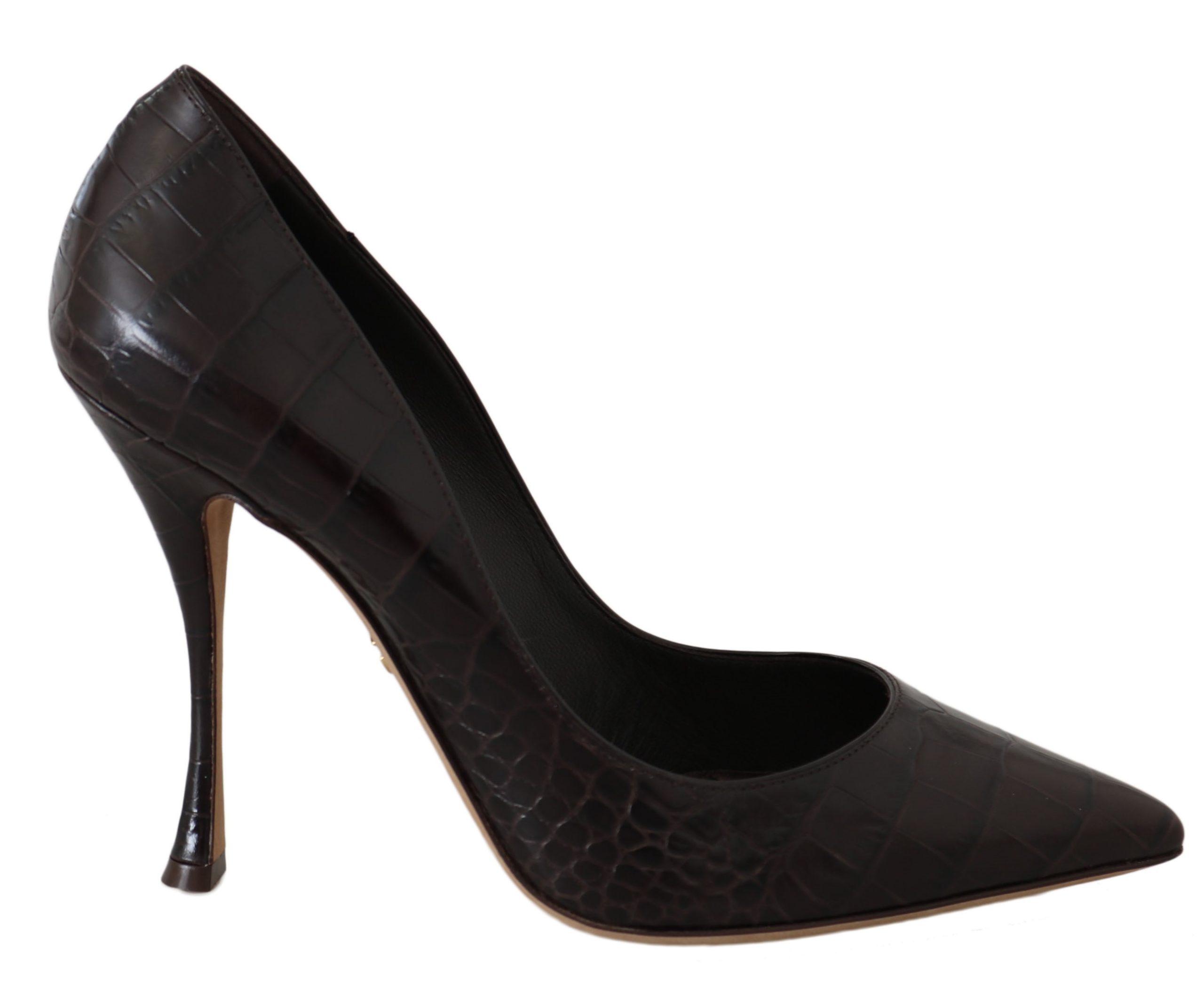 Dolce & Gabbana Women's Leather Heels Pumps Heels Shoes LA5985 - EU35/US4.5