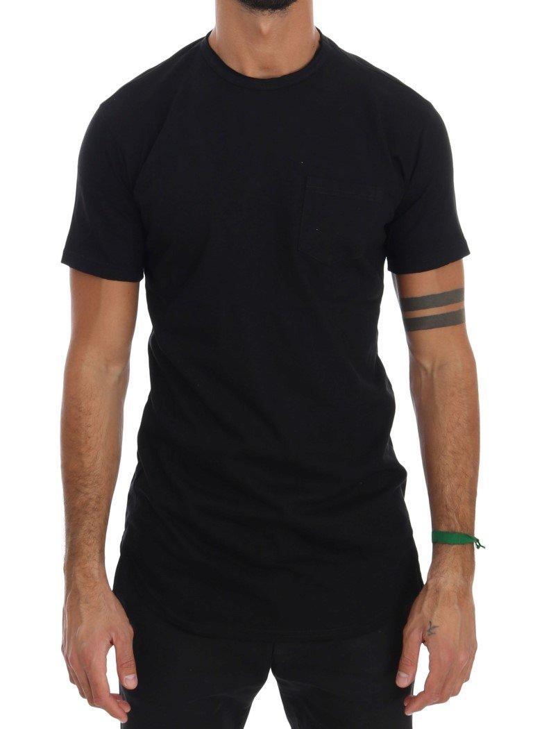 Daniele Alessandrini Men's Cotton Crewneck T-Shirt Black TSH1317 - S