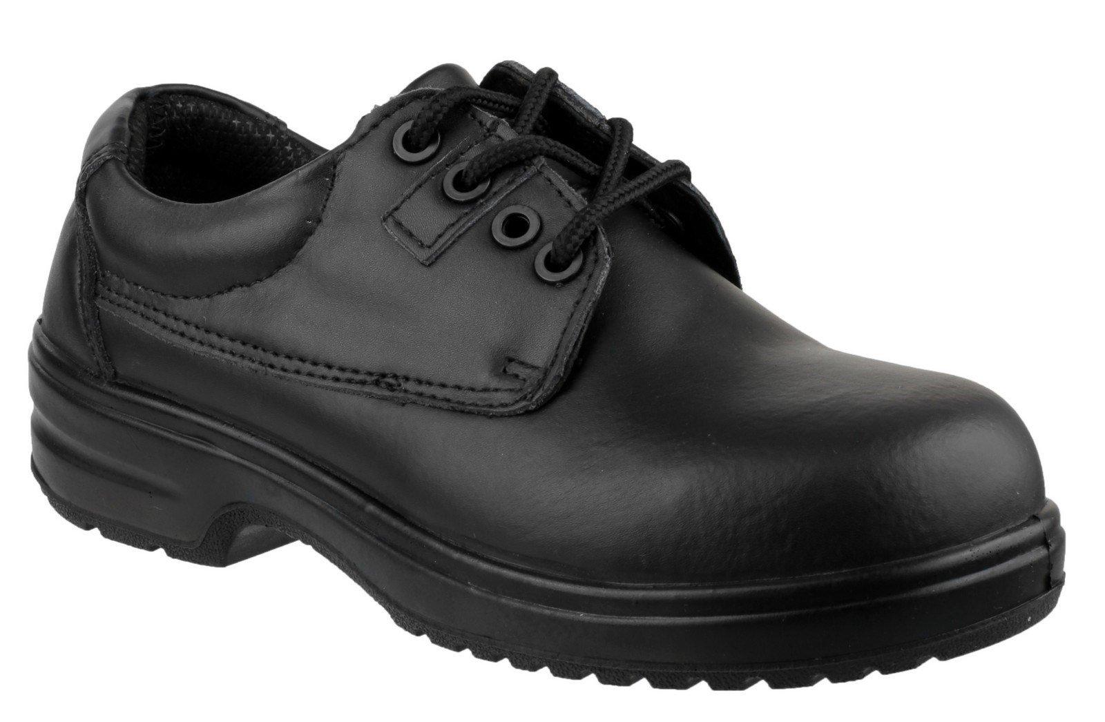 Amblers Women's Safety Metal Free Lace up Shoe Black 20442 - Black 2