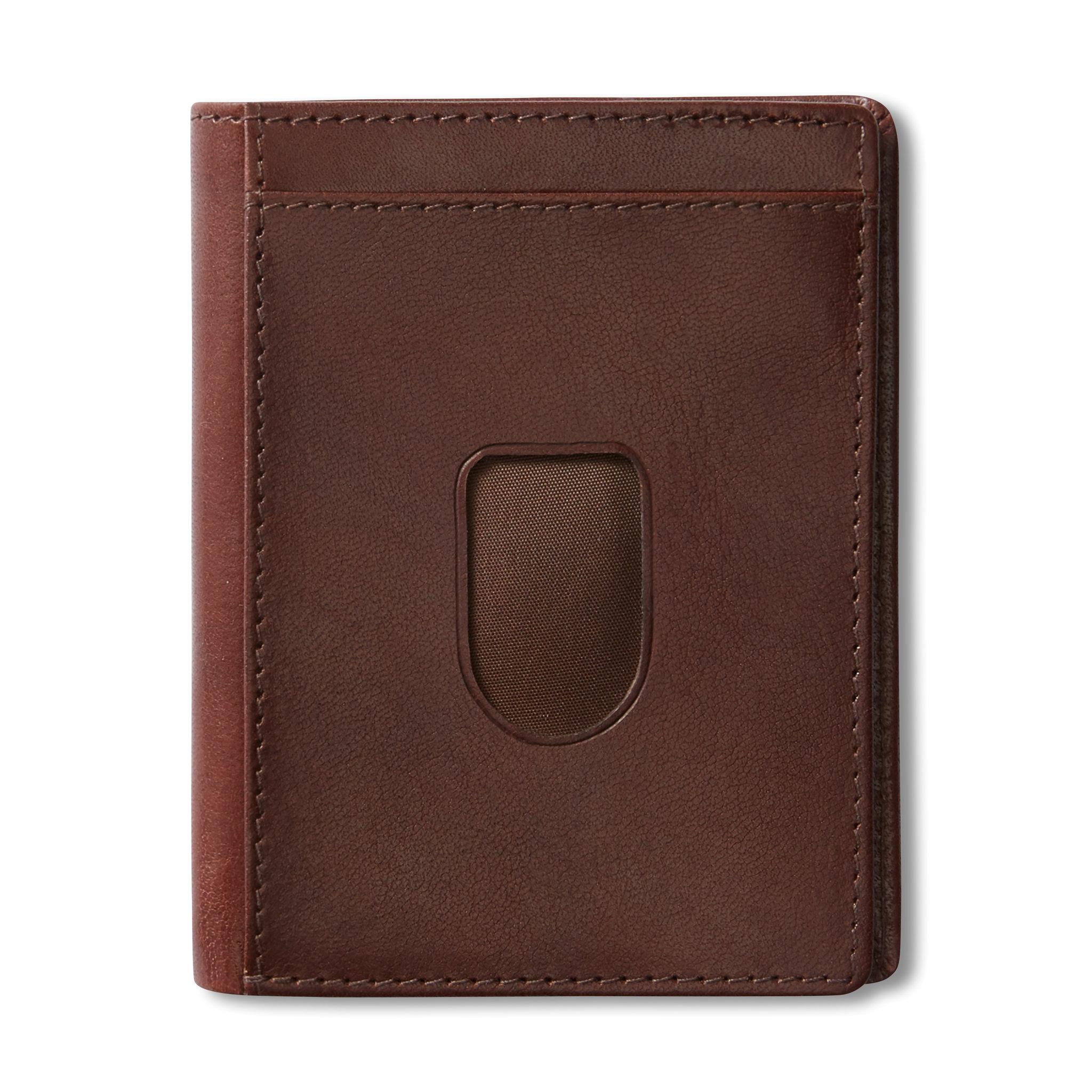 Plånbok i skinn, 7,5x10 cm