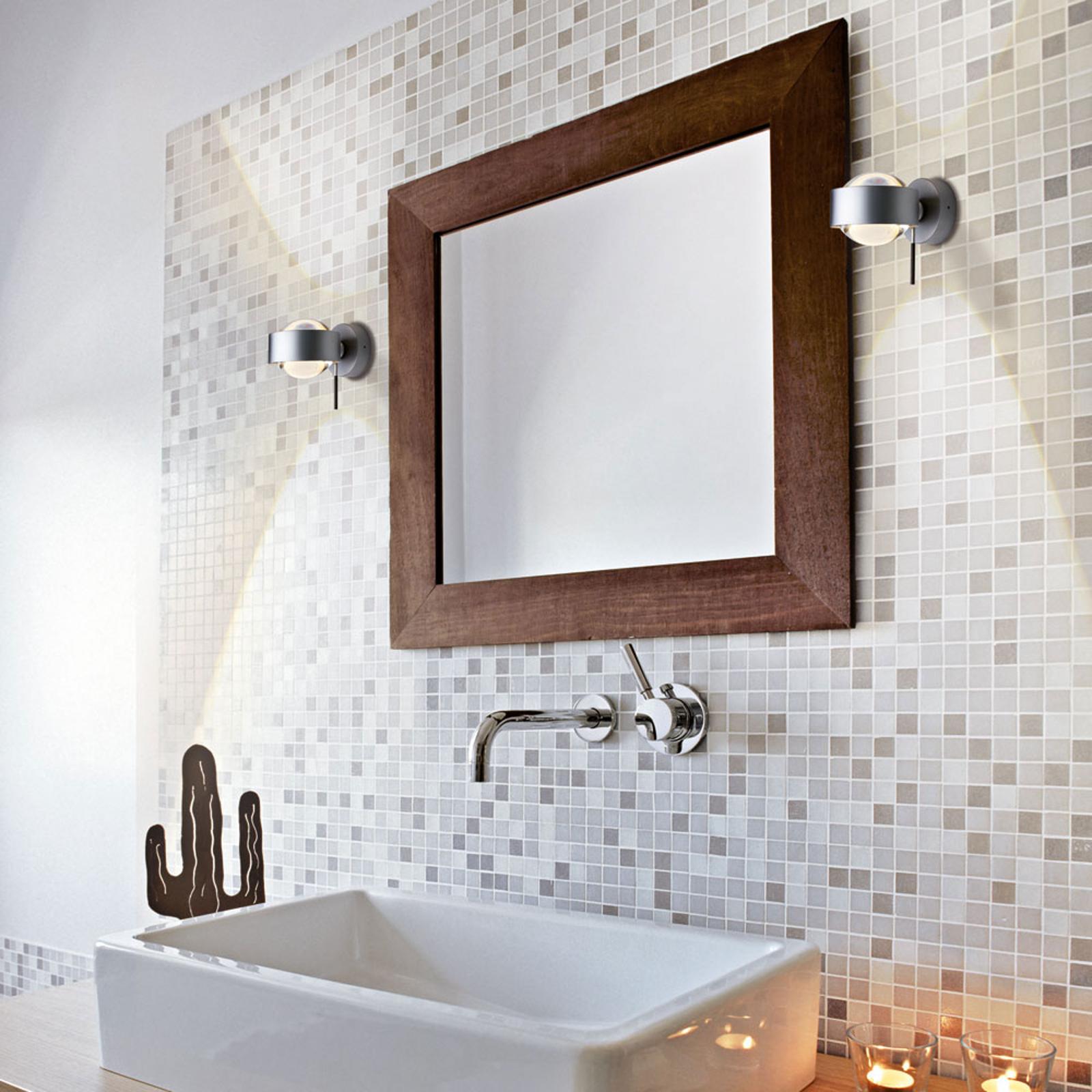 LED-seinävalaisin Puk Wall+, matta kromi