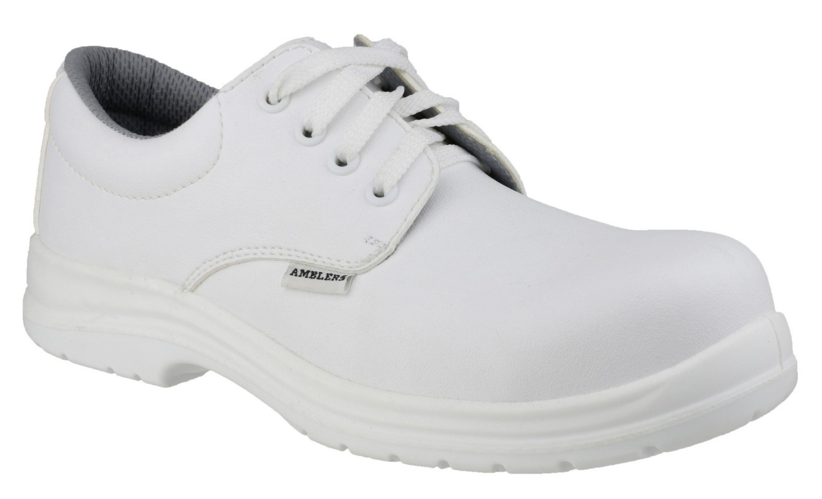 Amblers Unisex Safety Metal-Free Water-Resistant Lace up Shoe White 21893 - White 3
