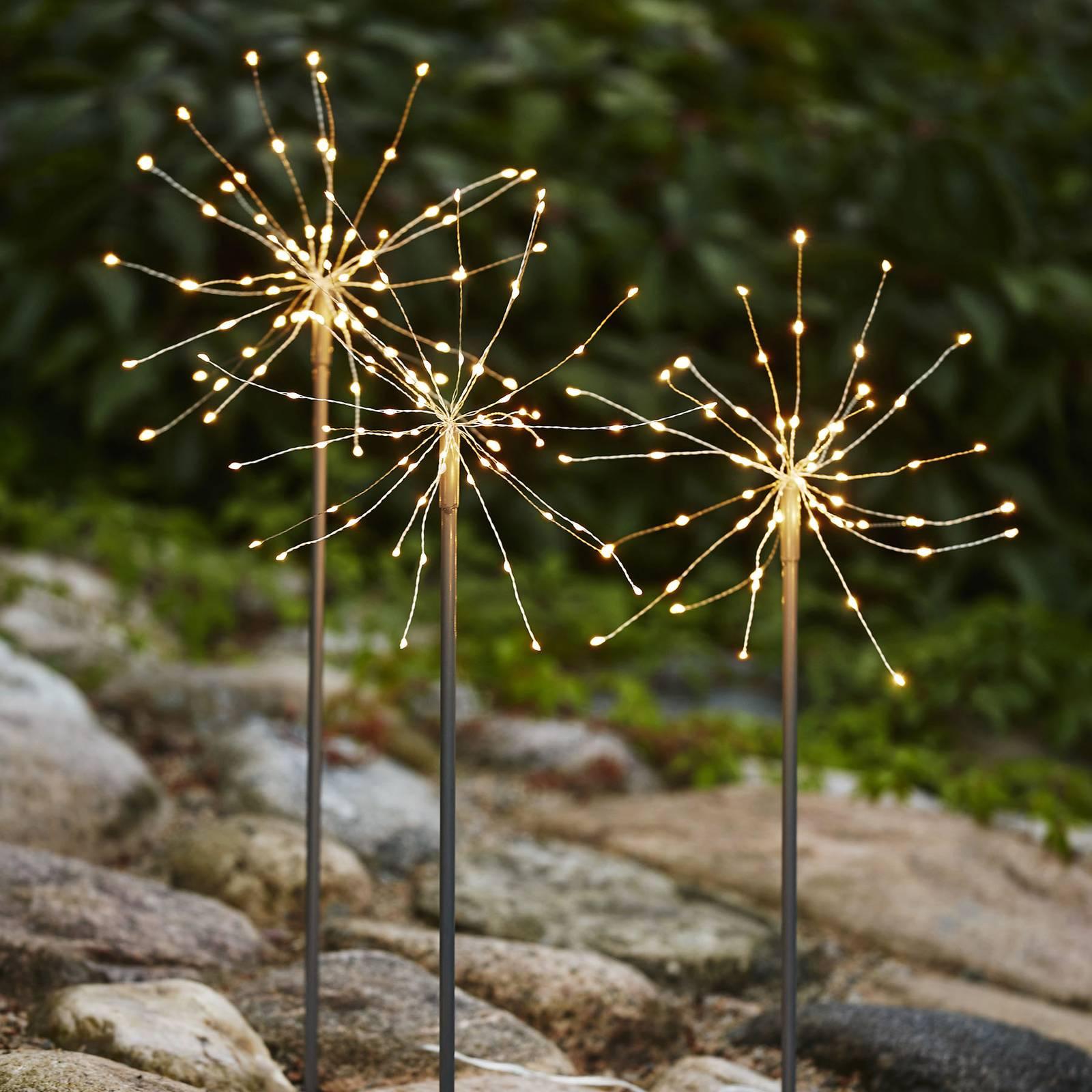 Firework Outdoor-LED-koristevalo, päivänvalo, 3kpl