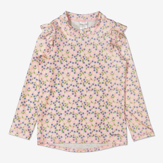 Uv-trøye med blomstertrykk rosa