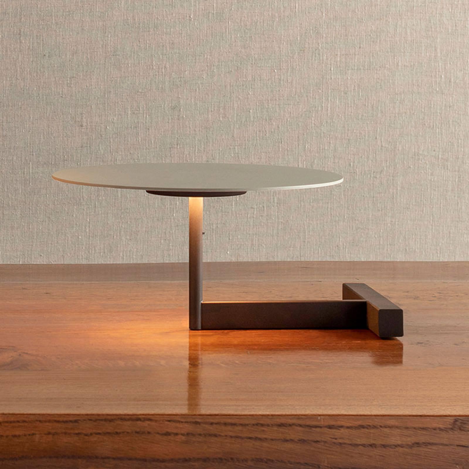 Vibia Flat -LED-pöytälamppu, 16 cm, harmaa L1
