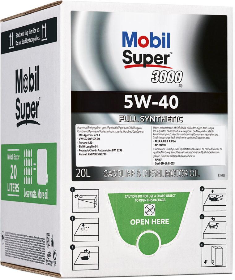 Moottoriöljy MOBIL 5W40 SUPER 3000 X1 20L