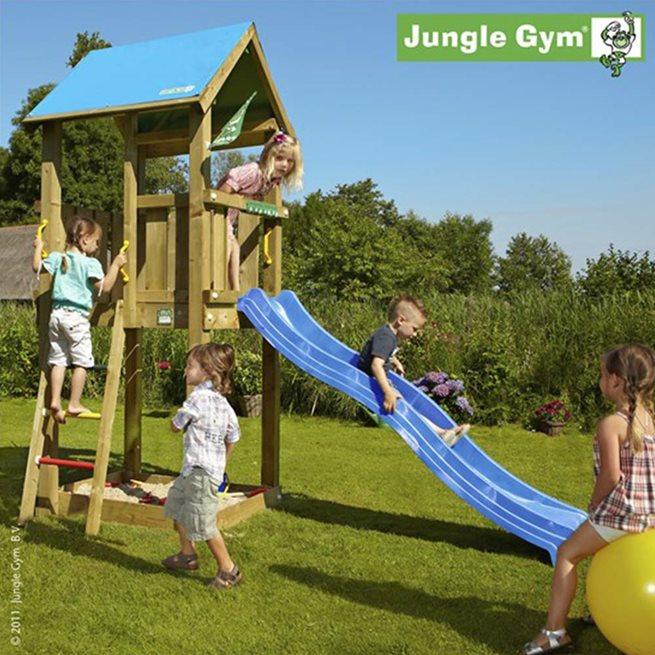 Jungle Gym Castle Lektorn Komplett Inkl. Rutschkana